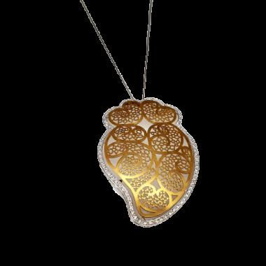 Collier en or bicolore