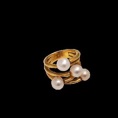 Bague en or perle