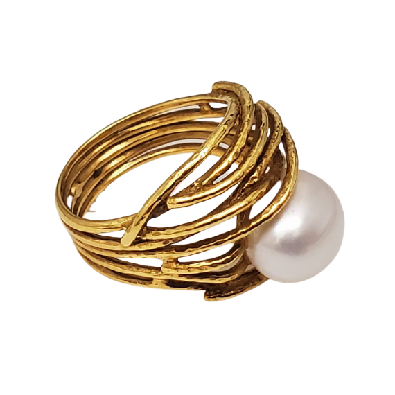 Gold Freshwater Pearl Ring