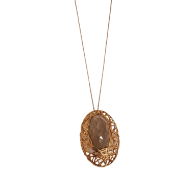Gold Fumé Quartz Necklace