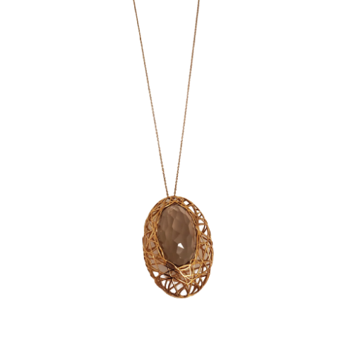 Gold Fumé Quartz Necklace