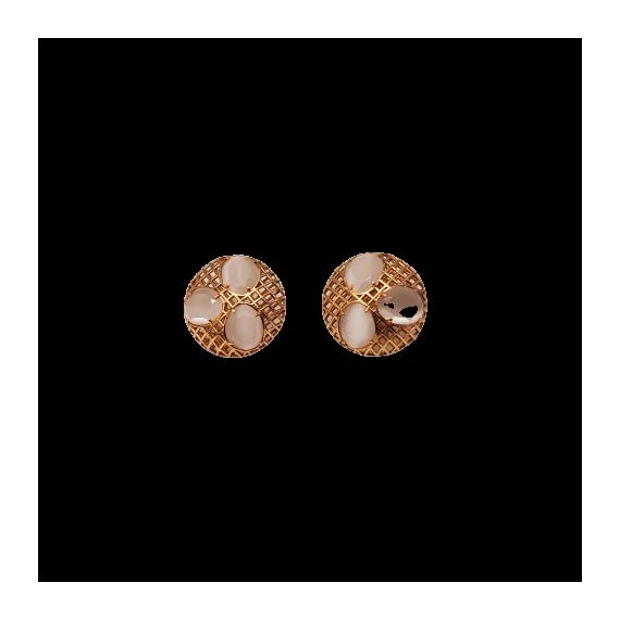 Gold Cat Eye Earrings