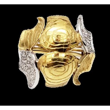 Bague en or bicolore