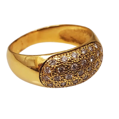 Anel Ouro com Diamantes