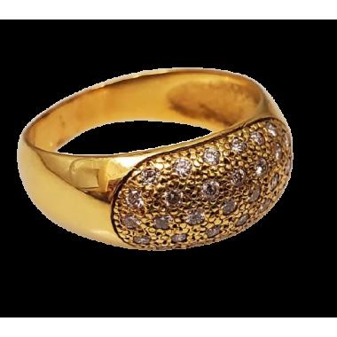 Bague en or avec diamants