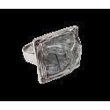 White Gold Rutile Quartz Ring