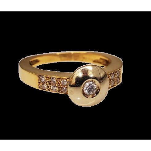 Anel Ouro com Diamante