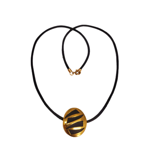 Gold Leather Necklace