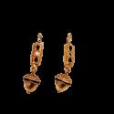 Gold Enamel Earrings