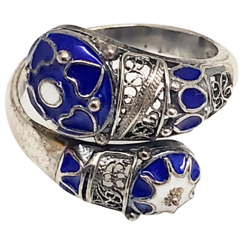 Silver Enamel Ring